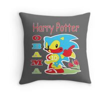 Harry Potter Obama Sonic Throw Pillow