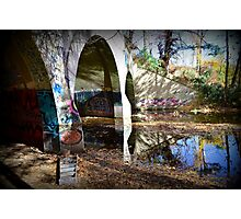 Graffiti in a tunnel Photographic Print