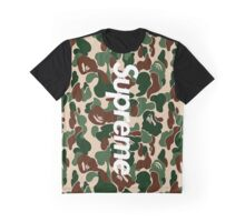 Supreme x A Bathing Ape Bape Camo Graphic T-Shirt