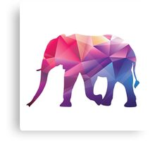 Rainbow Poly Elephant Canvas Print