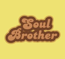Soul Brother - Retro 70s - Logo Kids Clothes