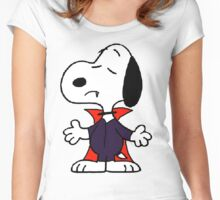 snoopy dracula Women's Fitted Scoop T-Shirt