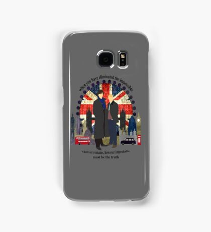 Eliminate the Impossible (Black Text) Samsung Galaxy Case/Skin