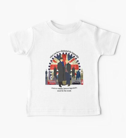 Eliminate the Impossible (Black Text) Baby Tee
