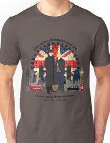 Eliminate the Impossible (Black Text) Unisex T-Shirt