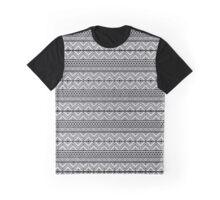 Grey Pattern Graphic T-Shirt