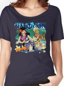 Nauticon 2013 - ALOHA! Come get LEI'D in P-town! [with DATE & LOCATION] Women's Relaxed Fit T-Shirt