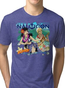 Nauticon 2013 - ALOHA! Come get LEI'D in P-town! [with DATE & LOCATION] Tri-blend T-Shirt
