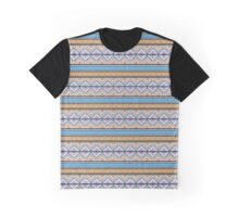 Orange & Blue Pattern Graphic T-Shirt