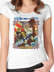 Nauticon 2014 - VIKINGS & VALKYRIES [with DATE & LOCATION] Women's Fitted Scoop T-Shirt