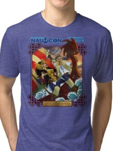 Nauticon 2014 - VIKINGS & VALKYRIES [with DATE & LOCATION] Tri-blend T-Shirt
