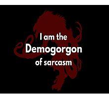 Logo - Demogorgon Photographic Print