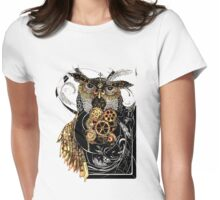 Steampunk wisdom Womens Fitted T-Shirt