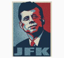 JFK Shepard Hope Style Poster (Red Blue High-Res Textured) Baby Tee