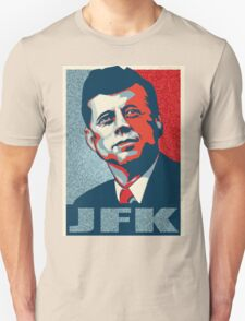 JFK Shepard Hope Style Poster (Red Blue High-Res Textured) Unisex T-Shirt