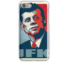 JFK Shepard Hope Style Poster (Red Blue High-Res Textured) iPhone Case/Skin