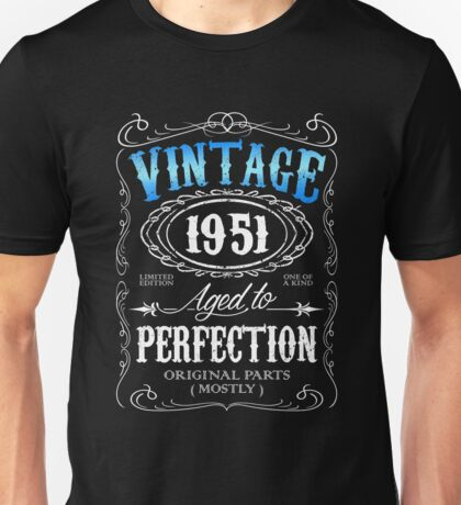 65th birthday gift for men Vintage 1951 aged to perfection 65 birthday Unisex T-Shirt