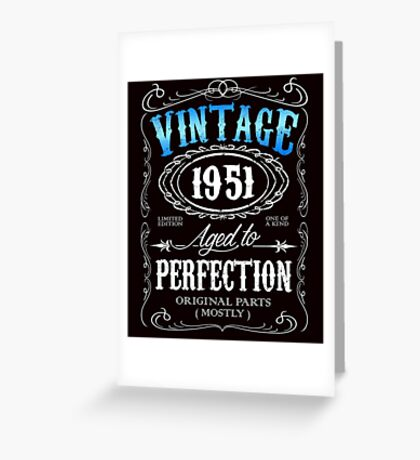 65th birthday gift for men Vintage 1951 aged to perfection 65 birthday Greeting Card