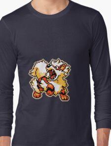 -Pixel Arcanine- Long Sleeve T-Shirt