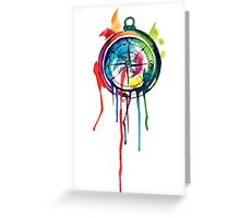Water Colour Compass Greeting Card