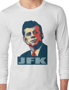 JFK Shepard Hope Style (Red Blue No Background) Long Sleeve T-Shirt