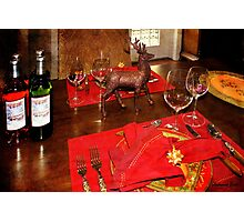 A Holiday Table Set Just for Two Photographic Print