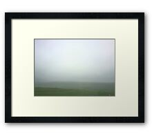 Fog and Hills Framed Print