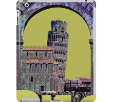 Leaning Tower of Pisa Retro Travel iPad Case/Skin