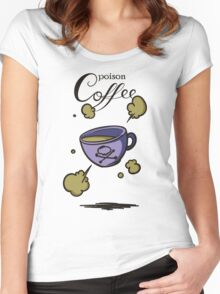 Poison coffee Women's Fitted Scoop T-Shirt