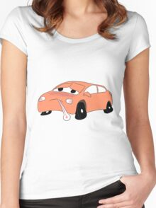 Car Sick (ORA) Women's Fitted Scoop T-Shirt