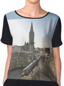 Cannon & Cathedral, Caen, France, Europe 2012 Chiffon Top