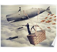 Hot Whale Balloon Poster
