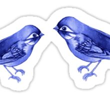 Indigo Birds Sticker