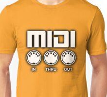 Midi White Black Edge Unisex T-Shirt