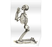 Skeleton Prayer Poster