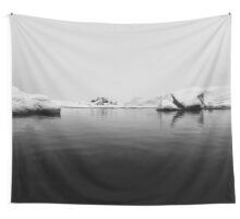 Iceland Winter Black And White Photography #home #decor Wall Tapestry