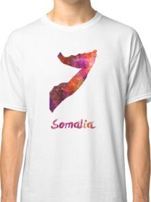 Somalia in watercolor Classic T-Shirt