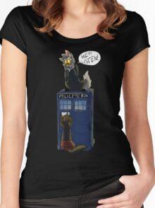 Listen! - Doctor Mew T-Shirt Women's Fitted Scoop T-Shirt