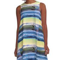 Topanga Beach Surfer A-Line Dress