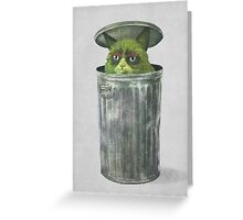 Grouchy Cat  Greeting Card