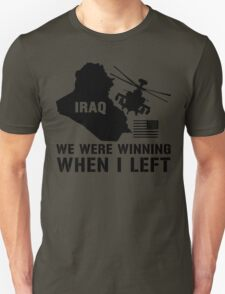 Iraq- Winning when I left Unisex T-Shirt