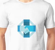 Handshake Forming Cross Octagon Retro Unisex T-Shirt