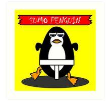 Sumo Penguin Art Print