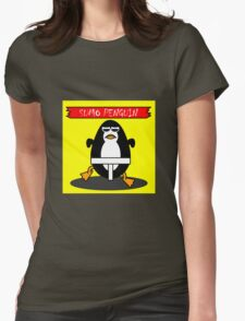 Sumo Penguin Womens Fitted T-Shirt