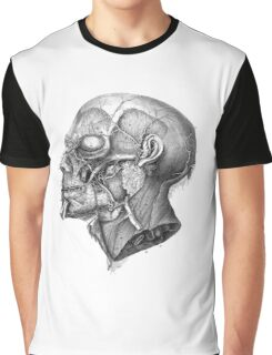 Vintage Anatomy Facial Muscles Graphic T-Shirt