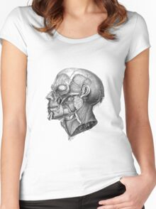 Vintage Anatomy Facial Muscles Women's Fitted Scoop T-Shirt