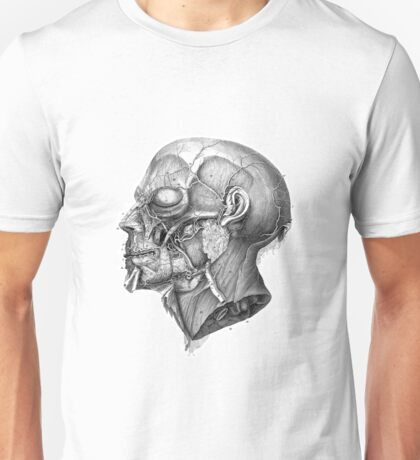 Vintage Anatomy Facial Muscles Unisex T-Shirt