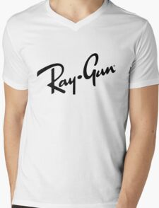 Ray Gun BW Mens V-Neck T-Shirt