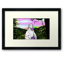 psychedelic sunset hail mary Framed Print