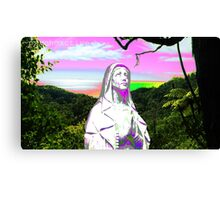 psychedelic sunset hail mary Canvas Print